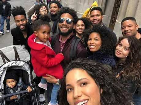 Empire star Jussie Smollett and his family. Picture: Instagram