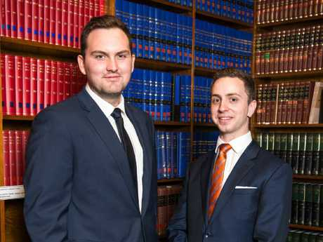 Alex Wood and Calum Thwaites won their case against QUT admin officer Cindy Prior. Picture: Joseph Byford