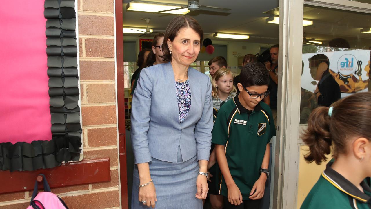 NSW Premier Gladys Berejiklian visiting Mulgoa Public School this week for an educational funding announcement. Picture: David Swift.