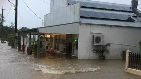 The streets of Giru have been inundated as the Haughton River continues to rise. Picture: Giru Community Facebook