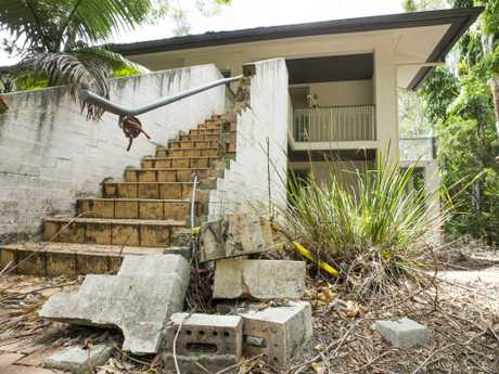 Rundown villas at the Palmer Coolum Resort, which was once the jewel of the Sunshine Coast. Picture: Lachie Millard