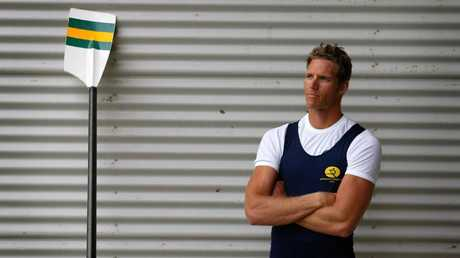 Bo Hanson before the 2004 Athens Olympics. Picture: Phil Hillyard