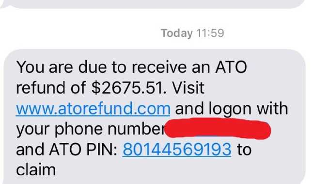 """A concerned Aussie said she had two texts from the same """"ATO number, but one was a scam."""