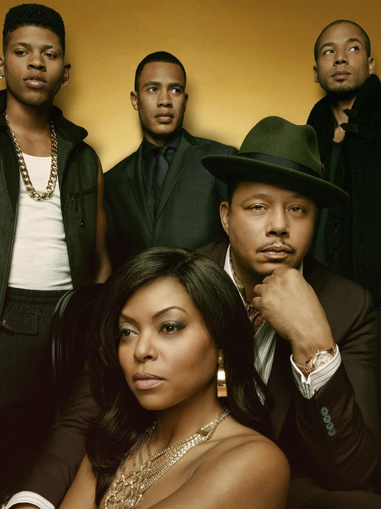 Pictured Clockwise L: Bryshere Gray, Trai Byers, Jussie Smollett, Terrence Howard and Taraji P. Henson in Empire. Picture: Fox