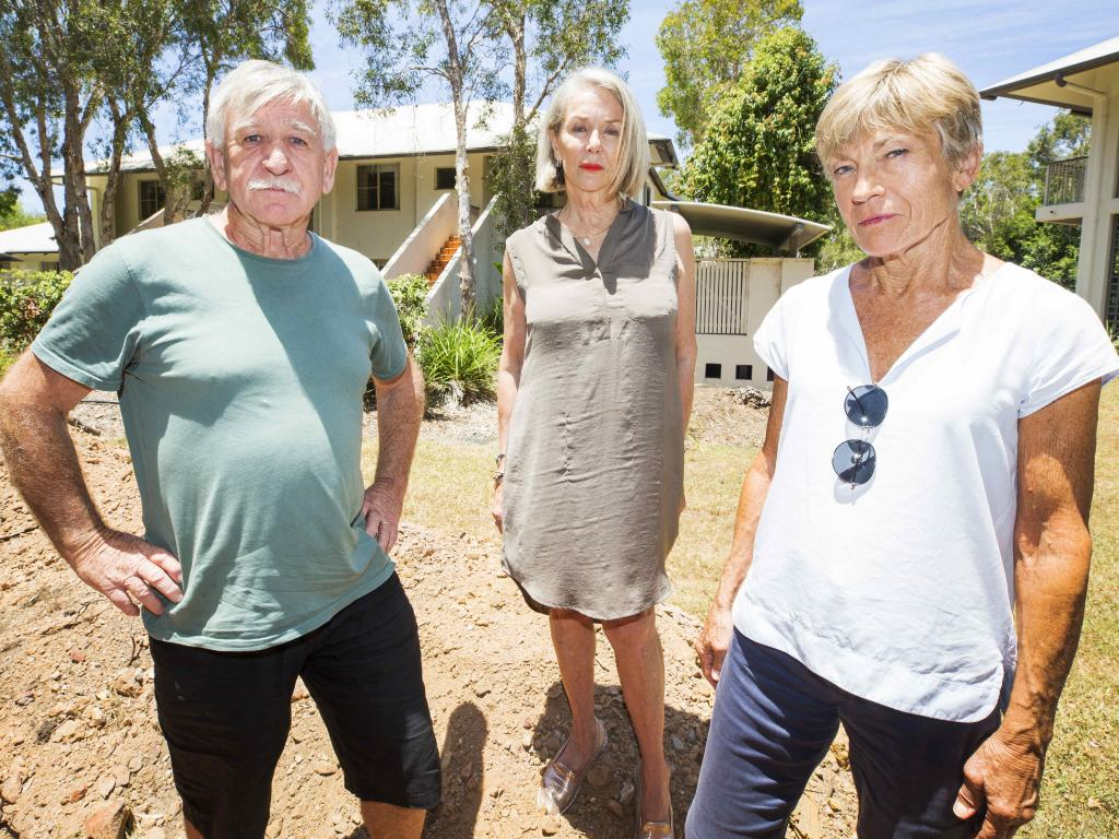 Coolum Resort; resort owners Chris Shannon, Maree Frecklington and Sally Bennett. Picture: Lachie Millard