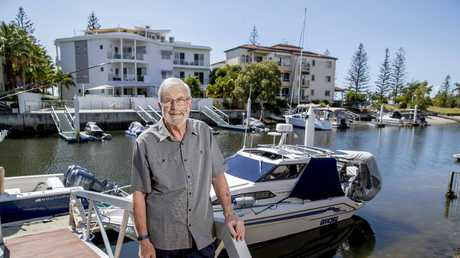 Bob Montgomery a forensic psychologist on the Gold Coast at his Runaway Bay home. Picture: Jerad Williams