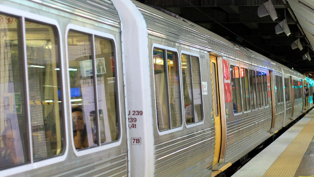 A woman is claiming more than $300,000 in damages after she was caught in train doors as they closed at Central Station. File picture