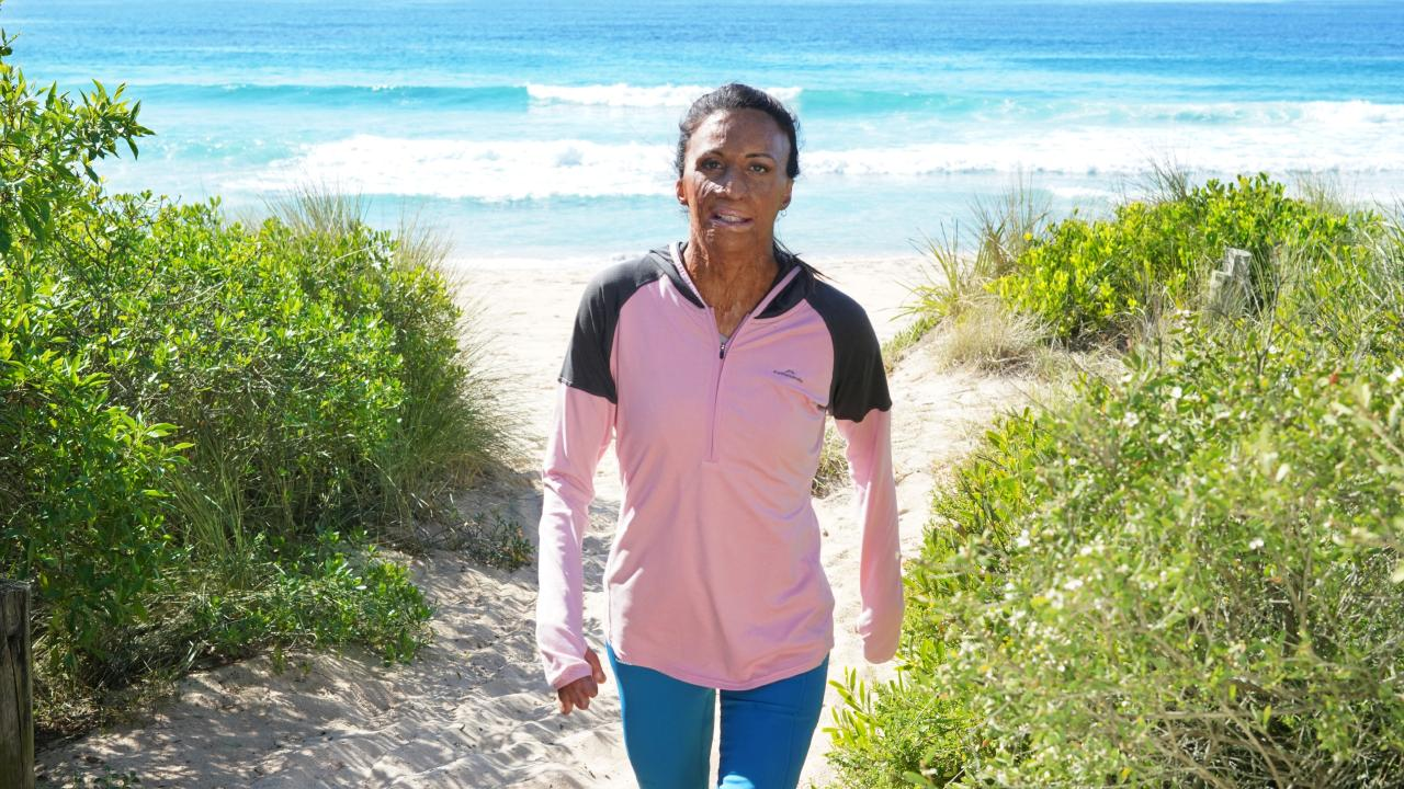 Turia Pitt training for the 2019 Kathmandu Coast to Coast event Picture: Andy Baker