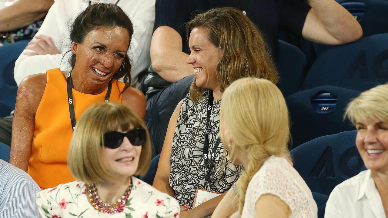 Turia Pitt meets Nicole Kidman and Anna Wintour. Picture: Michael Klein
