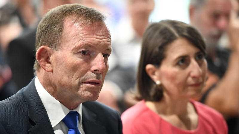 Former prime minister Tony Abbott (left) and NSW Premier Gladys Berejiklian.