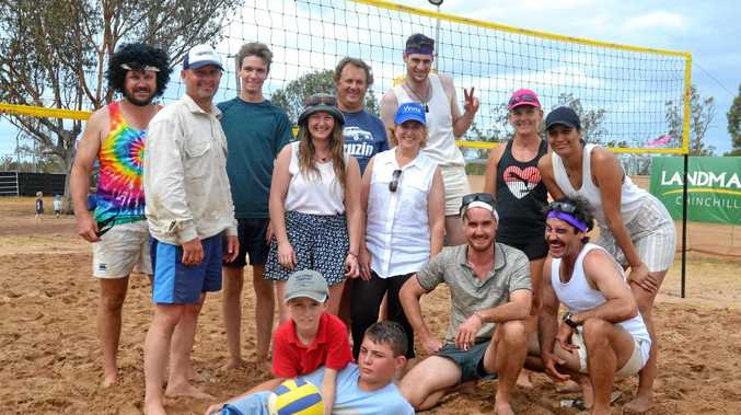 Despite a bit of healthy team rivalry, it was smiles all round at the Dulacca Sports Club annual Bush Beach Volleyball tournament.