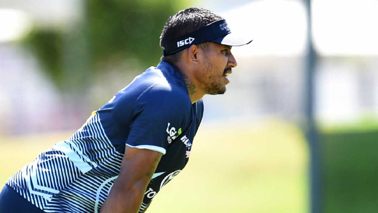 Ben Barba. NRL; North Queensland Cowboys pre-season training at Townsville Sports Reserve.