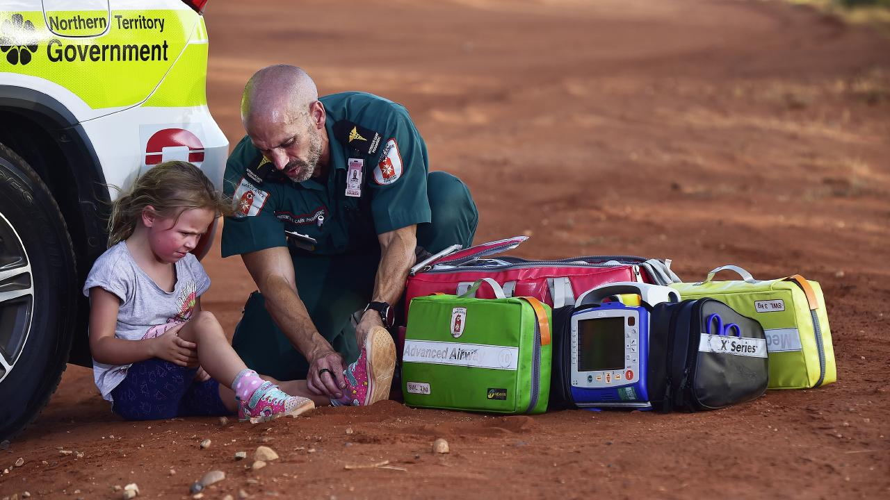 Paul Reeves is the only fully qualified Intensive Care Paramedic in Alice Springs. Picture: Chloe Erlich