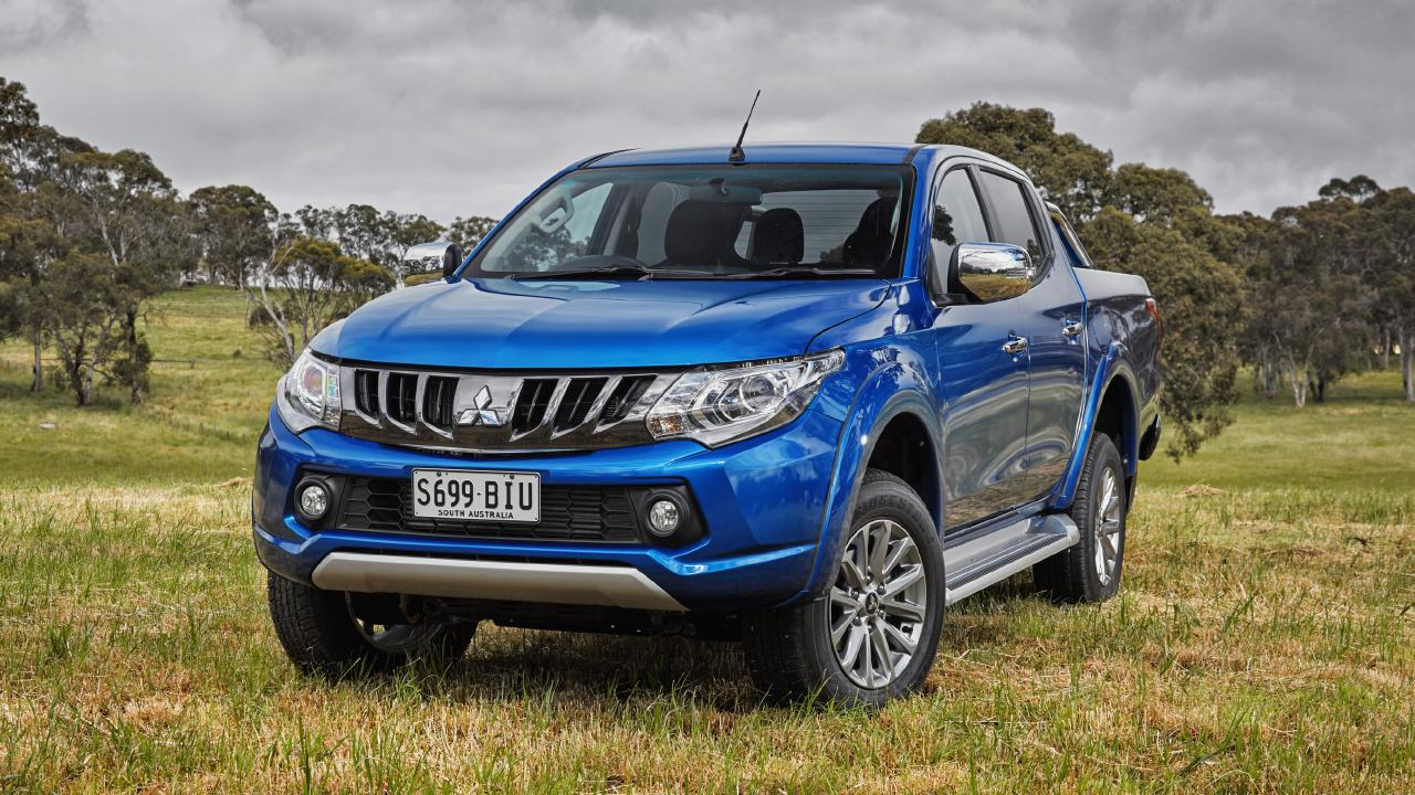 Brand's current ride is a Mitsubishi Triton.