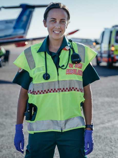 Paramedic Caitlin Little. Picture: Australian Catholic University