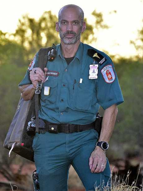 Paramedic Paul Reeves in Alice Springs. Picture: Chloe Erlich