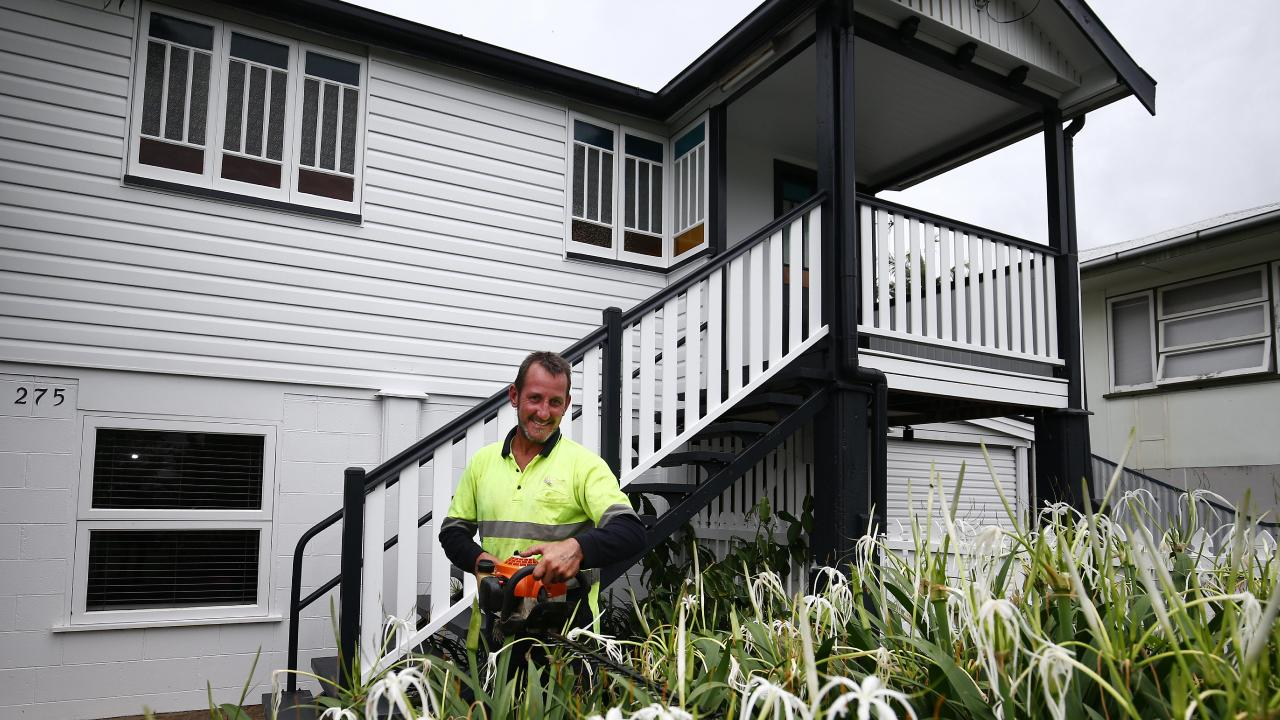 Tidying up the garden of your home before putting it on the market has been shown to improve sale prices by up to 20 per cent. NQ Parks and Gardens gardener Danny Sinclair trims some bushes in the front yard of a property for sale at Cairns North. PICTURE: BRENDAN RADKE