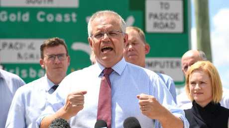 Australian Prime Minister Scott Morrison making the announcement yesterday. (AAP Image/Dan Peled)