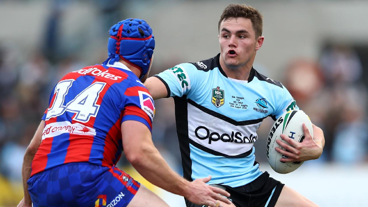 Kyle Flanagan may not play many minutes in the 2019 season if Johnson and Townsend gel well in the halves. Picture by: Cameron Spencer/Getty Images