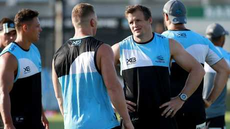 Cronulla Sharks finished with a total of 18,896 SuperCoach points in 2018. Picture: Toby Zerna