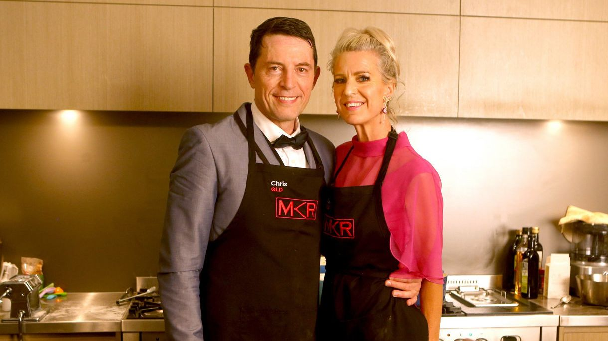 Flight attendants Chris Rillo and Lesley Clough overcame turbulence during their instant restaurant on My Kitchen Rules.