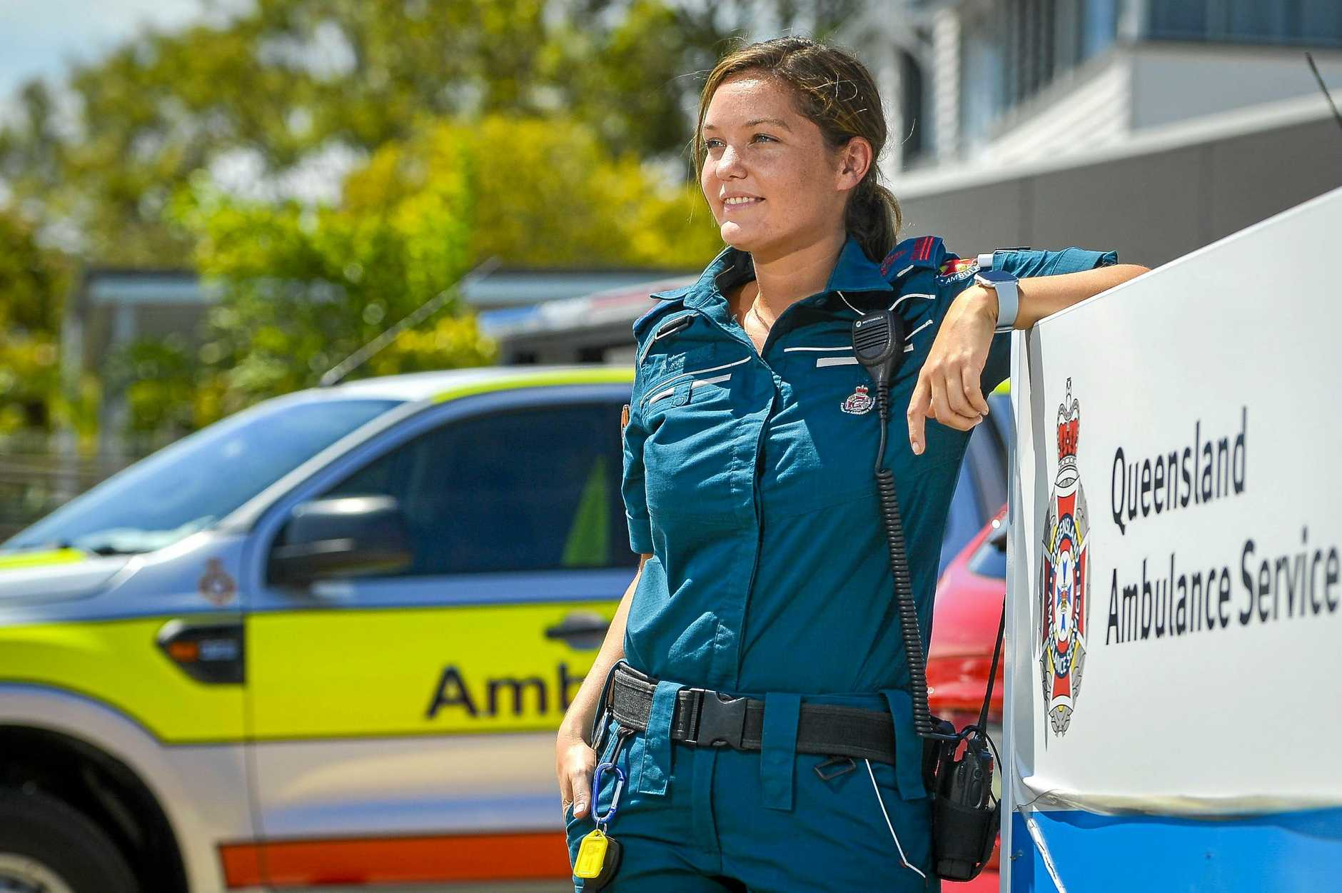 Advanced care paramedic Lauren Oates has been part of the Queensland Ambulance Service team in Gladstone for three years.