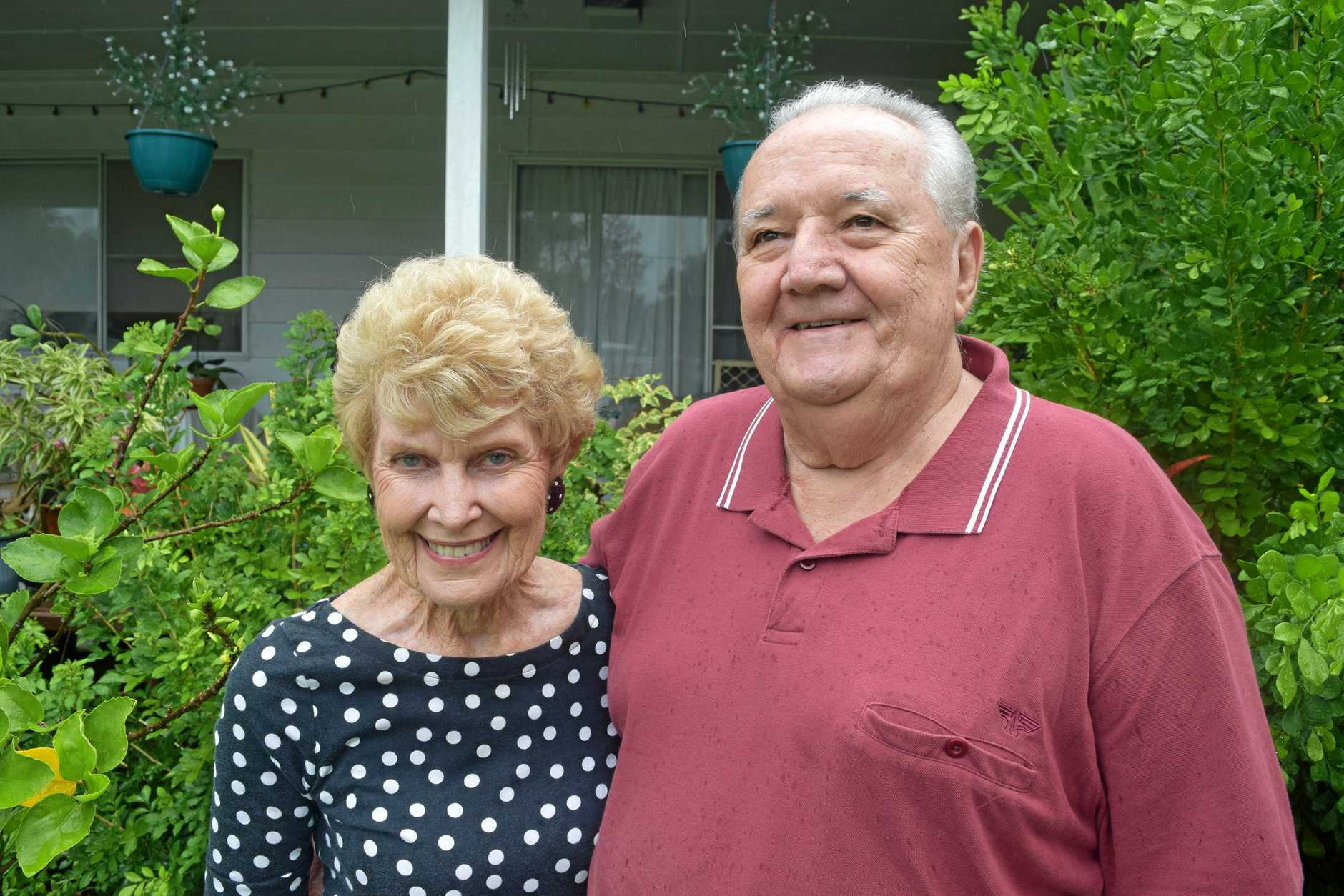 GROUNDS FOR IMPROVEMENT: Marlene and Bob May have big plans for their East Mackay garden after they won $1000 of Bunnings Warehouse vouchers in the  Mercury's  competition.