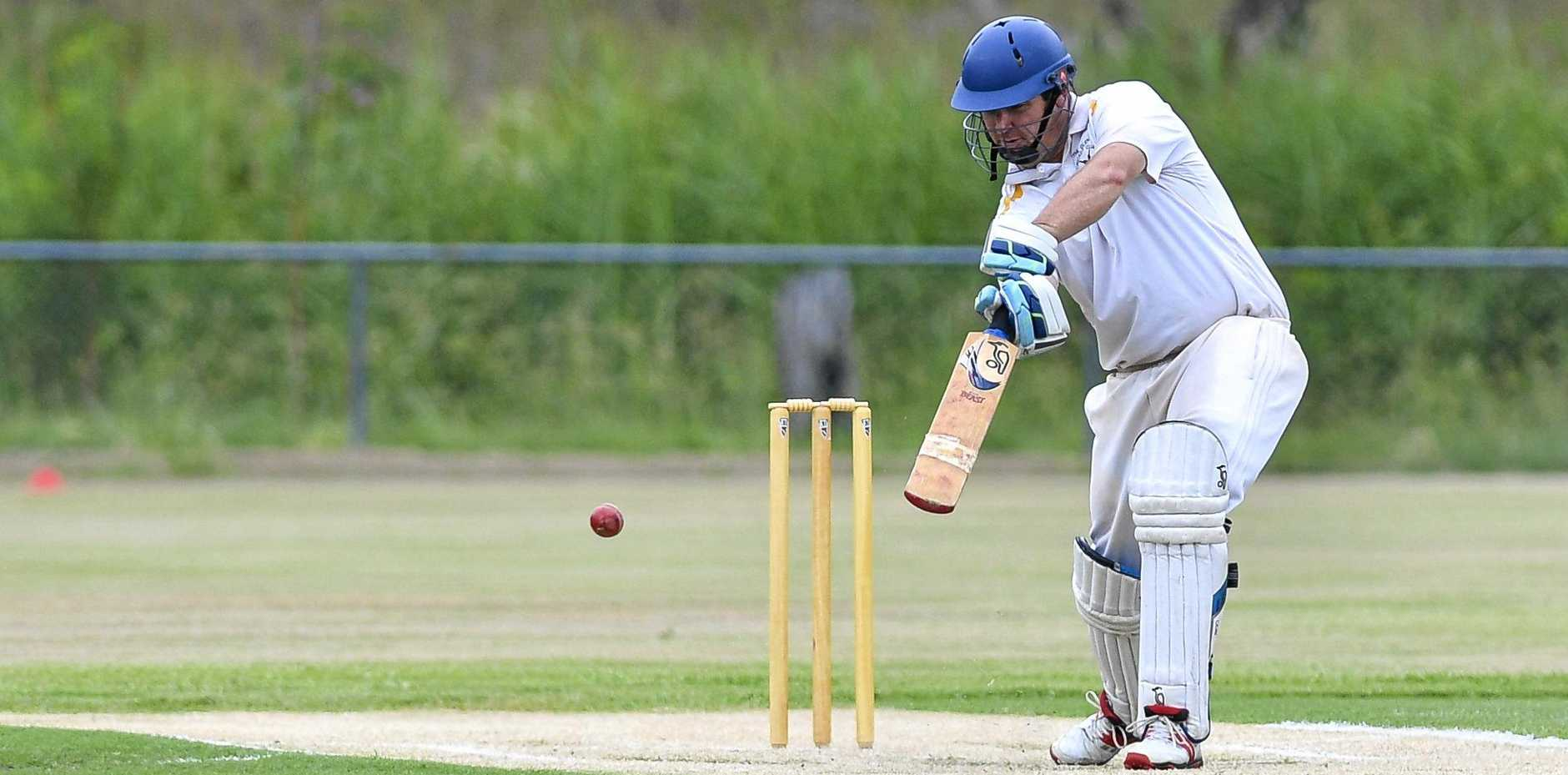 CLINICAL: The Glen's Dan Haidles plays a cover drive against Frenchville.