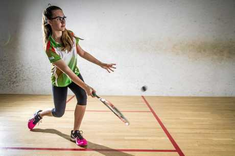 FLASHBACK: Emily Turner pictured in 2014. The 21 year old has been playing squash since she was six.