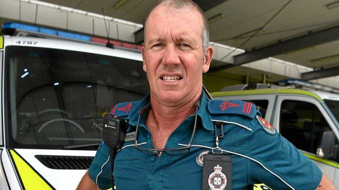 CRITICAL CARE: Dan Moore says he has never felt out of his comfort zone during his time as a Queensland Ambulance Service paramedic on the Sunshine Coast.