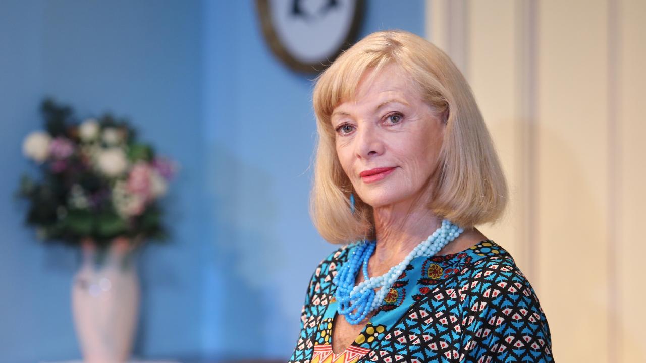 Carmen Duncan in Agatha Christie's A Murder is Announced.