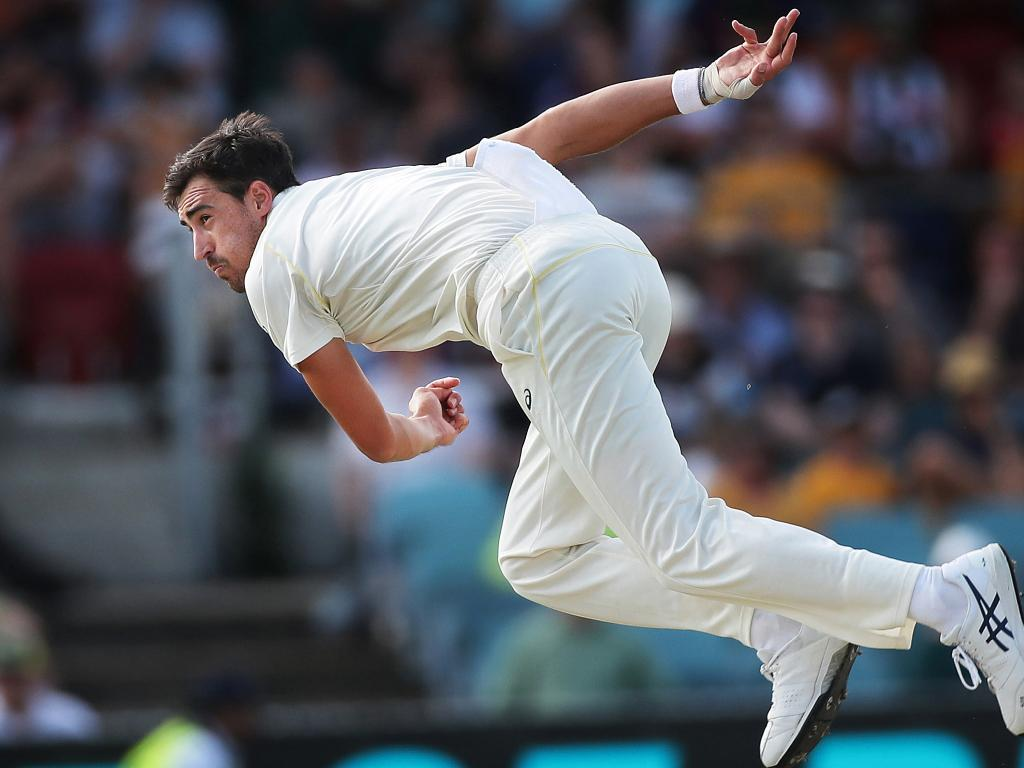 Mitchell Starc rediscovered his mojo at Manuka Oval. Picture. Phil Hillyard