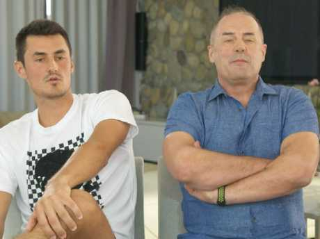 Bernard & John Tomic during the 60 Minutes interview — Photo Supplied.