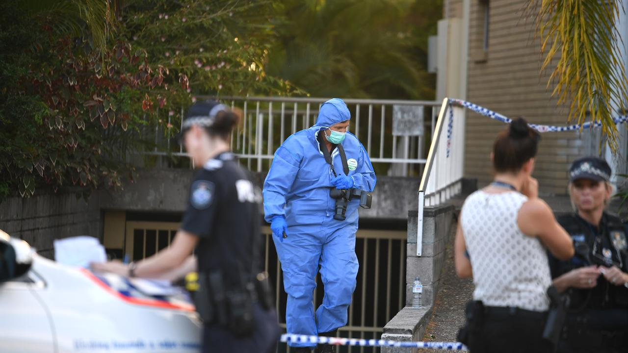 The teenager was allegedly stabbed outside of a neighbouring apartment block. Picture, John Gass