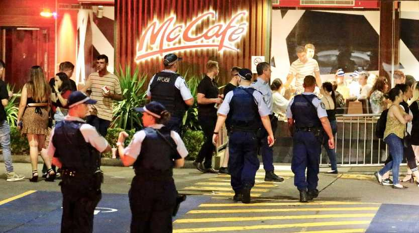 A man is fighting for life after a brawl outside a Penrith McDonald's. Picture: Steve Tyson