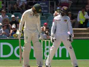 Moment of class after Khawaja sledge