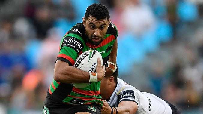 Rabbitohs flyer Alex Johnston could be poached by the Cowboys. Picture: Getty Images