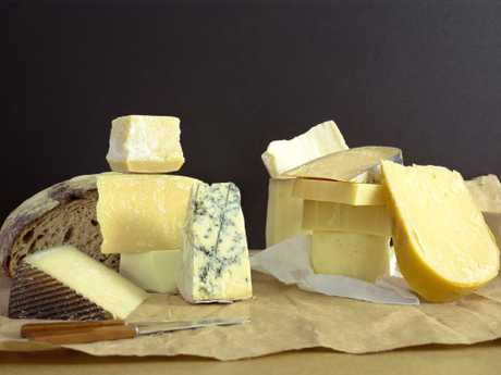 Cheeses and bread are not bad to eat. Picture: Thinkstock