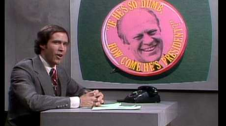 Chase carved out comedy niches in SNL's first season, like imitating figures in popular culture and politicians.