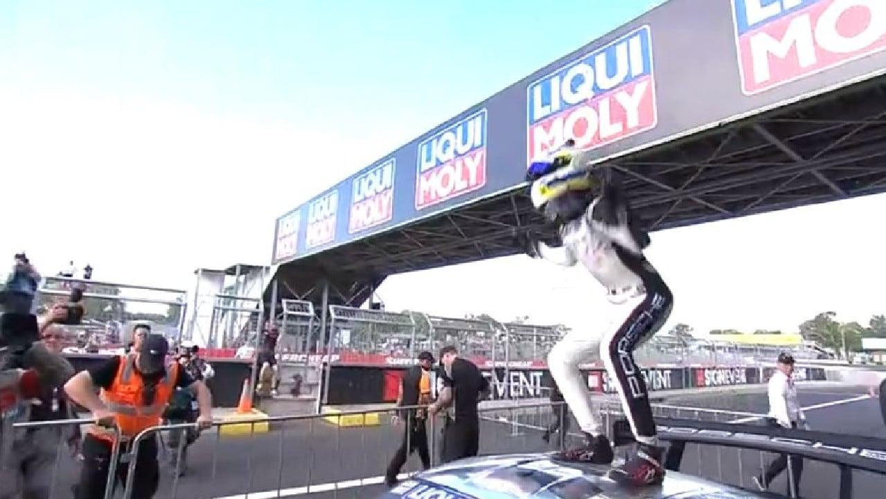Matt Campbell was ecstatic after ending Porsche's long wait.
