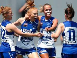 Kangaroos smash Blues in AFLW debut