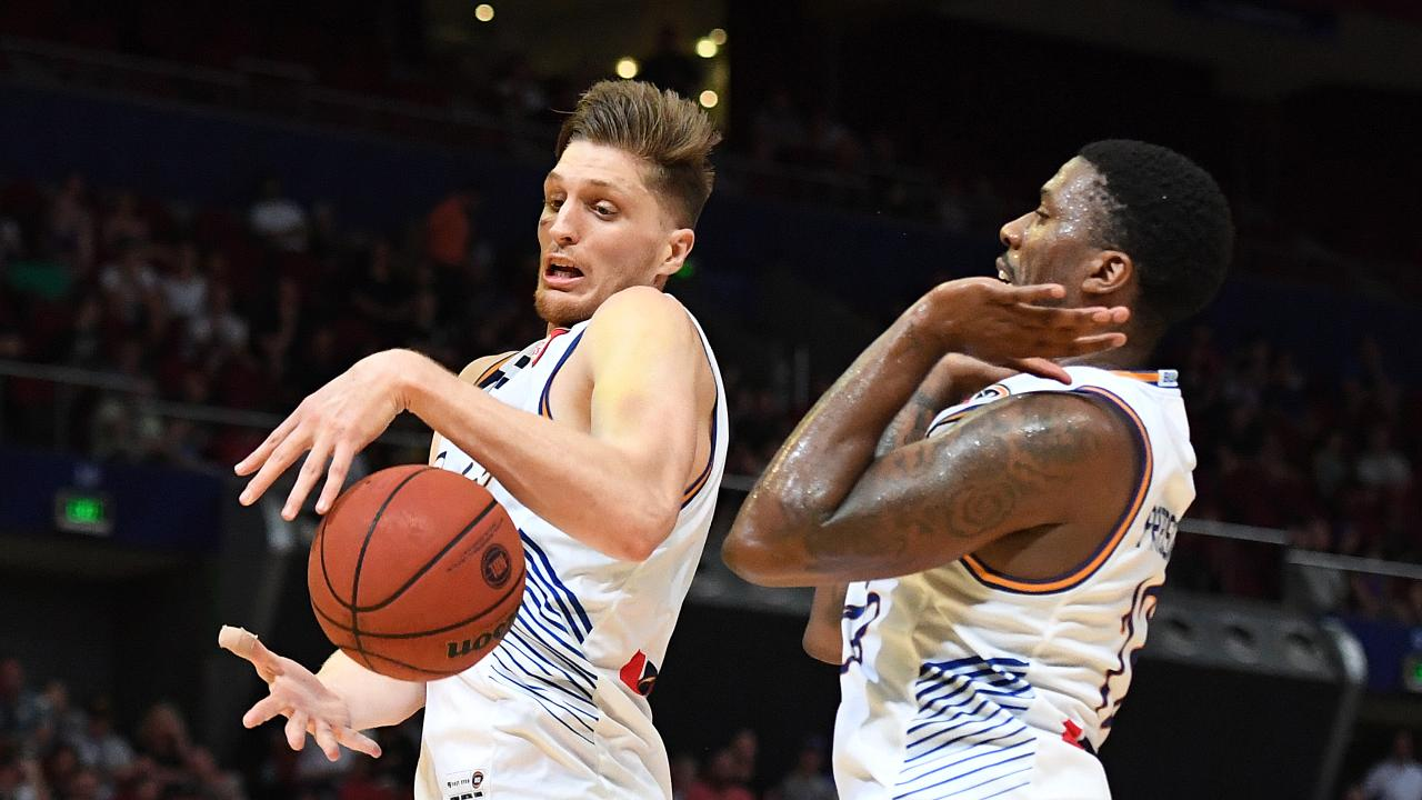 Matt Hodgson and Lamar Patterson will be key for the Bullets. (AAP Image/Dylan Coker)