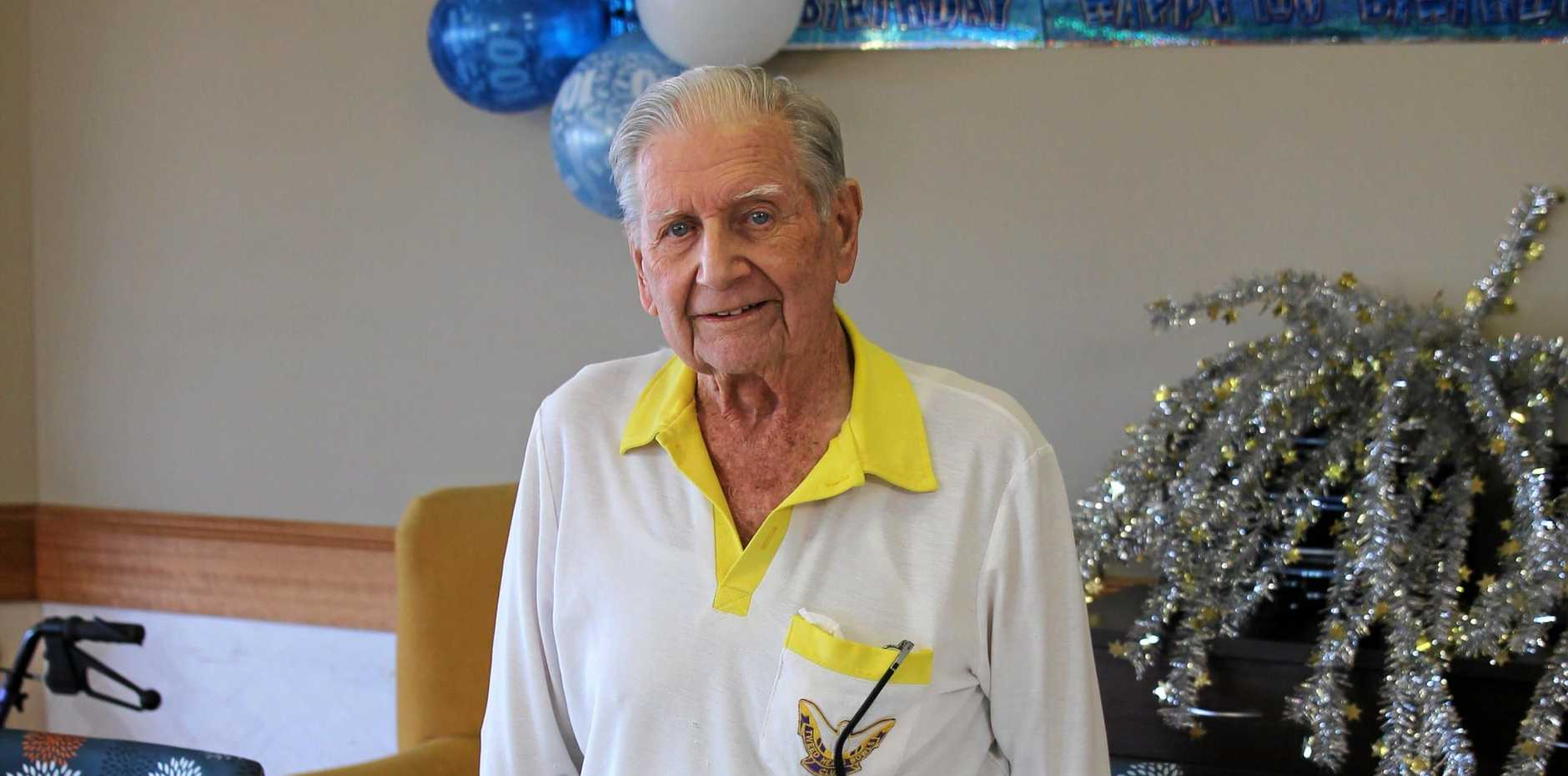 HAPPY BIRTHDAY: Alan Ferguson celebrated his 100th birthday on the weekend with family and friends.