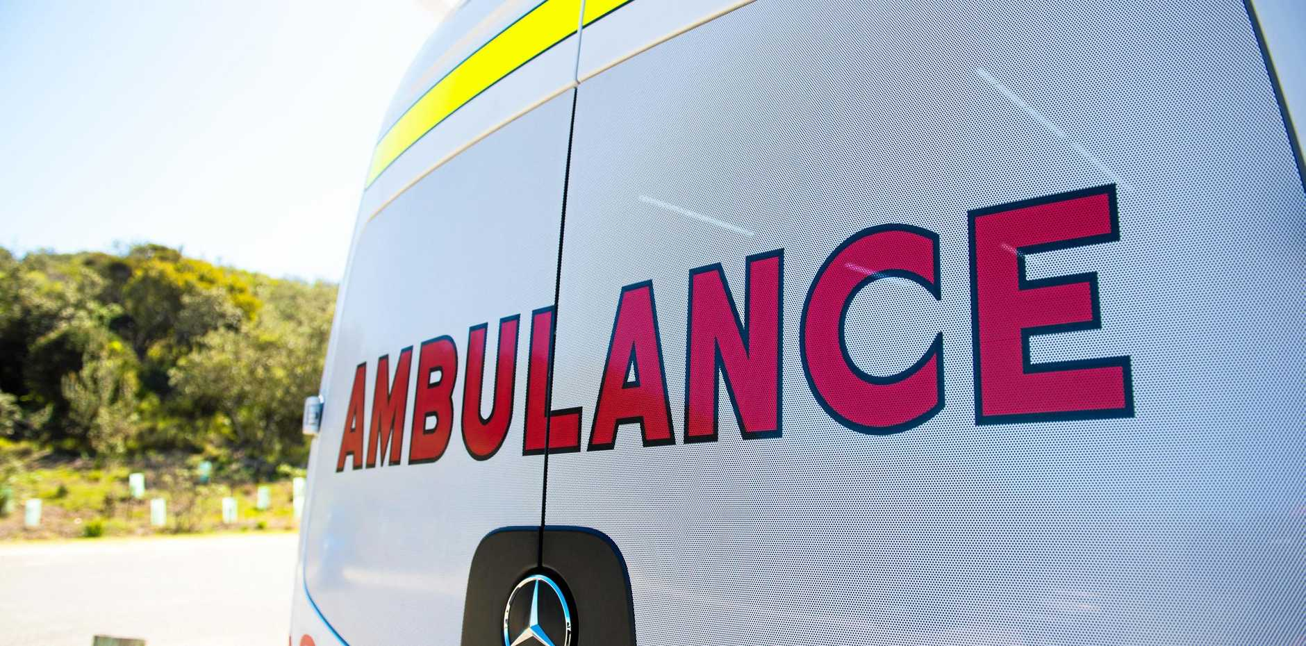 A motorbike rider has escaped with minor injuries after she crashed at Elimbah this morning.