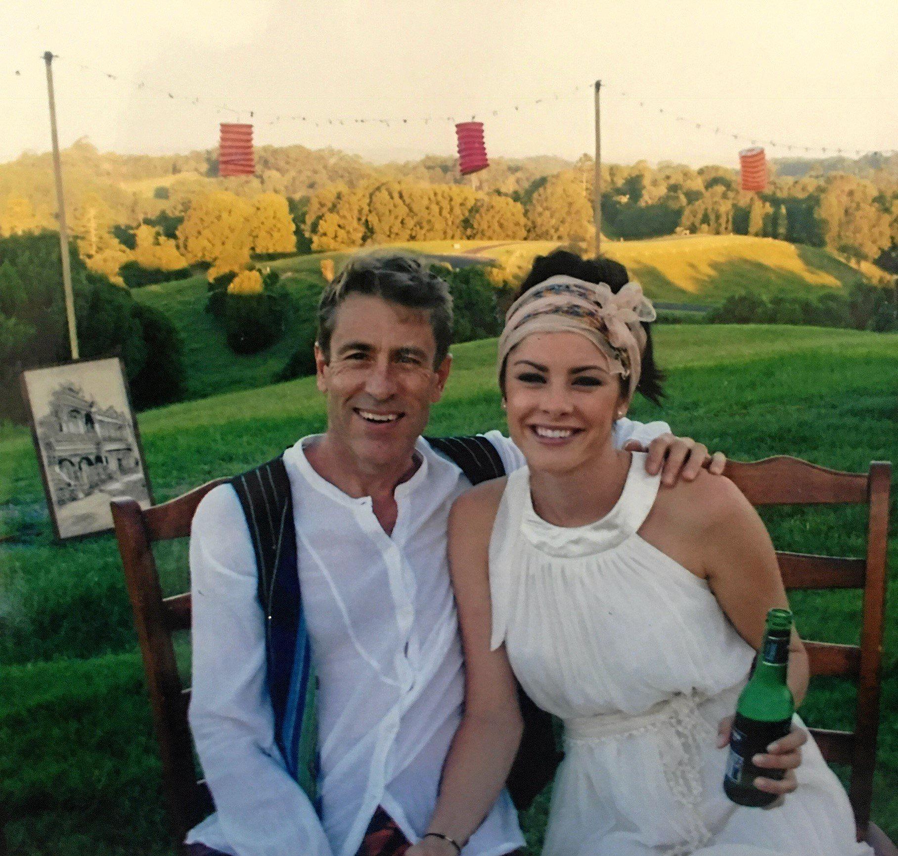 PROUD: Brooke alongside her late father, Dr Nigel Chamberlain.