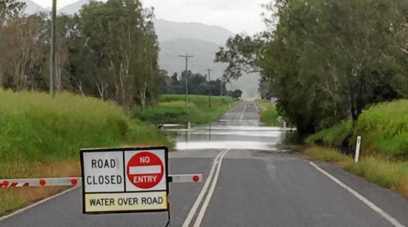 Roads under water in the Mackay region. FILE PICTURE