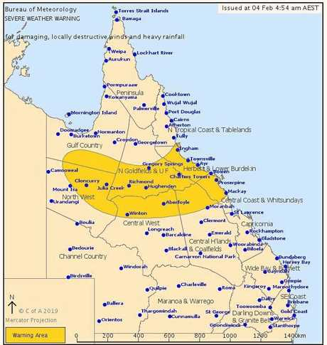As the monsoon pushes south, it is forecast rain and flooding will impact people living between Townsville and Sarina.
