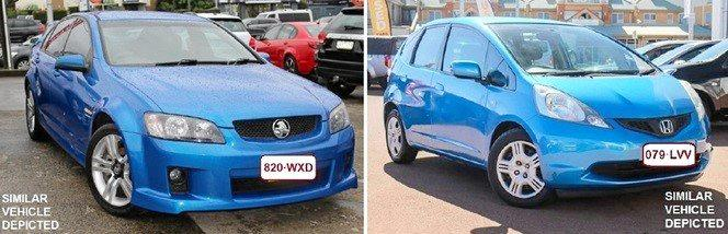 Cars similar to those stolen.