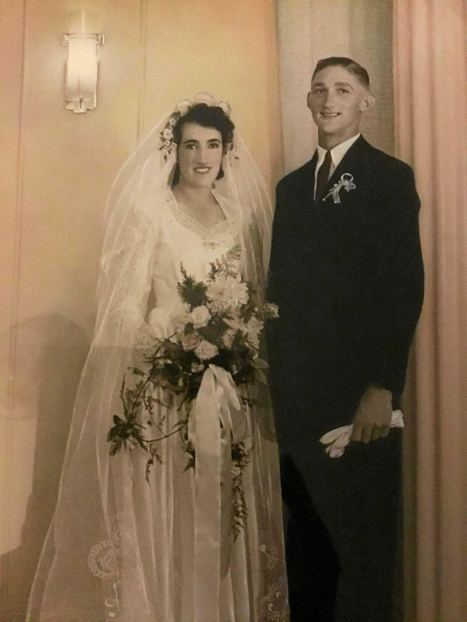 LOVE: Jean and Herbert (Bob) Little were married on February 5, 1949.