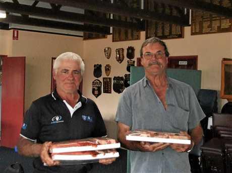 Blackbutt open day winners  Glen Bell and Geoff Partridge.